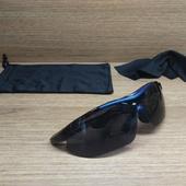 Очки велосипедные чёрно-синие, тёмная линза
