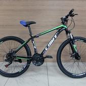 """Велосипед LIMIT TX 800 Disc (2021) 26"""" Черный/Зелёный"""