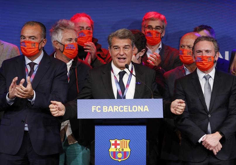 Президент «Барселоны» Жоан Лапорта высказался о проекте Суперлиги Европы.