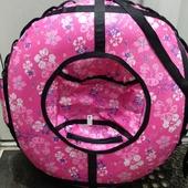 ватрушка 80см розовые цветы