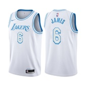 2021-22 Los Angeles Lakers LeBron James #6 City Edition White Jersey