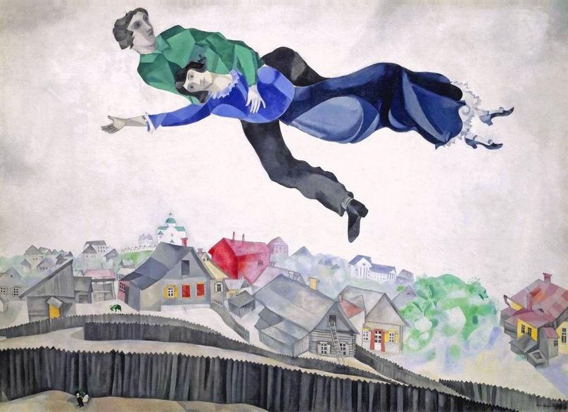 Почему у Шагала летают люди и коза зеленая? 🧐