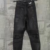 (О124)Мотоштаны кожаные, размер XXS.