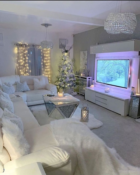 Как в замке Снежной королевы☺️ Как Вам интерьер гостиной????
