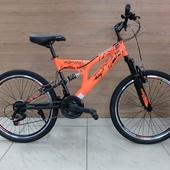 """Велосипед VELTORY 4001 (2021) 24"""" Оранж/Чёрный"""