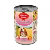 РОДНЫЕ КОРМА консервы для собак птица с потрошками в желе по-московски 970г