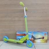 Самокат складной детский STROLLY STR-023 (2021) Зеленый/Голубой
