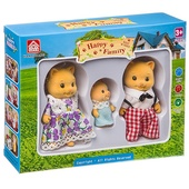 Игровой набор Happy Family фигурки зверюшек, семейка котиков