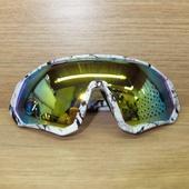 Очки ELAX широкие с вентиляцией. Мрамор, зеркальная линза