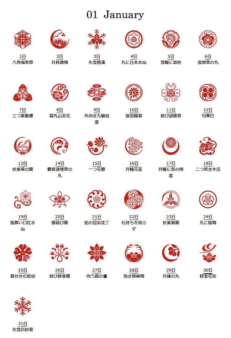 Японские цветочные узоры Ханакомон. (Часть 1.)