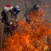 Добровольные степные пожарные Астрахани