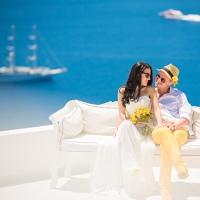 Свадьба за границей в Греции на Санторини