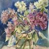 Букет цветов в технике акварельной живописи